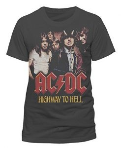 AC/DC Official Highway to Hell Rock Heavy Metal Tee T-Shirt