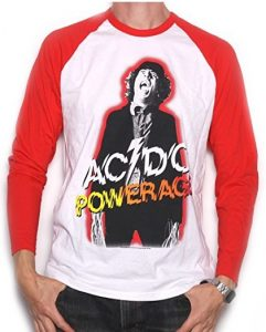 AC/DC T Shirt - Powerage Long Sleeve 100% Official