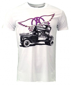Aerosmith Logo Pump White T-shirt Official Licensed Music