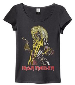Amplified Iron Maiden - Killers - Womens Charcoal T Shirt