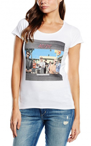 Amplified Women's AC/DC Dirty Deeds Cover Short Sleeve T Shirt