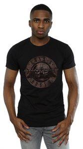 Guns N Roses Men's Sepia Bullet Logo T-Shirt