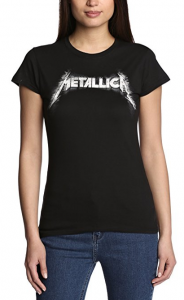 METALLICA Women's Spiked Logo Short Sleeve T-Shirt