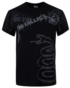 Metallica Black Album Faded T-Shirt black