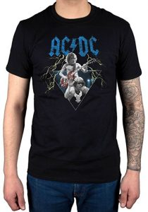 Official AC/DC Angus Young Brian Johnson T-Shirt Unisex