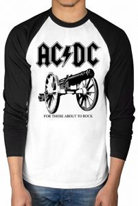 Official AC/DC For Those About To Rock Baseball T-Shirt Rock Band Rock And Roll Indie