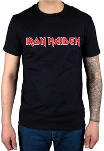 Official Iron Maiden Logo T-Shirt Vintage Classic Heavy Metal Band