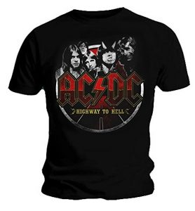 Official T Shirt AC/DC CIRCLE Highway to Hell