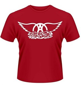 Plastic Head Men's Aerosmith Logo Banded Collar Short Sleeve T-Shirt