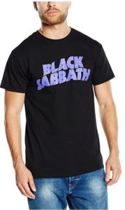 Black Sabbath Men's Wavy Logo Vintage Short Sleeve T-Shirt
