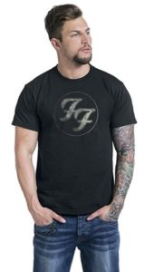 Foo Fighters Logo In Circle T-Shirt black