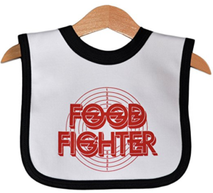 Food Fighter Funny baby bib for Foo Fighter fans by Nippaz With Attitude