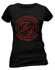 Ladies Foo Fighters Red Circle Logo Rock Tee T-Shirt Top Clothing Womens Girls SKINNNY FIT