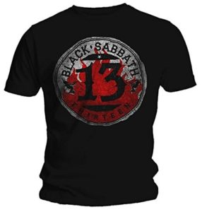 Official T Shirt BLACK SABBATH Black 13 Album CONVERSE
