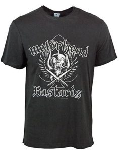 Amplified Mens Official Motorhead Bastards T Shirt Charcoal