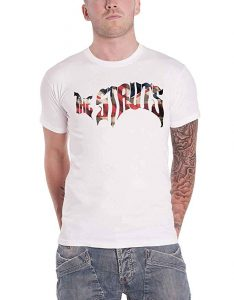 The Struts T Shirt Flag Band Logo Official Mens White M