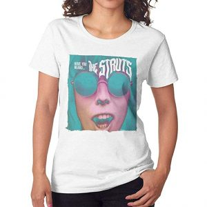 The Struts Have You Heard Women Short Sleeves Shirt White