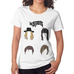 The Struts Women Short Sleeves Shirt White