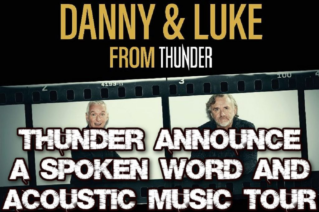 Thunder Announce a Spoken Word and Acoustic Music tour