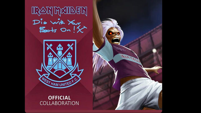 Iron Maiden and West ham launch a new away shirt and training range.