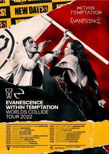 Within Temptation & Evanescence reschedule their Worlds Collide Tour