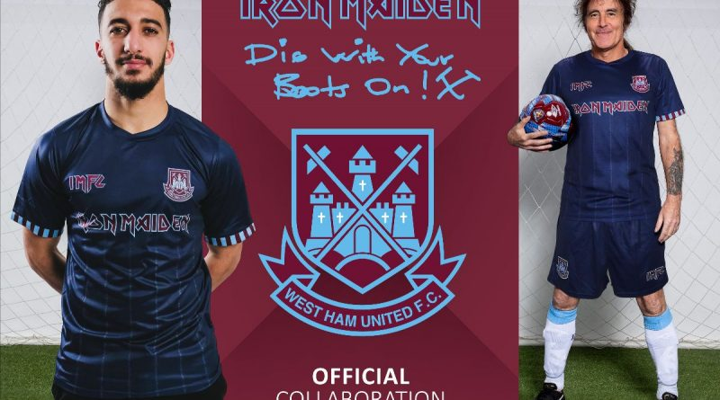Iron Maiden and West ham launch a new away shirt and training range