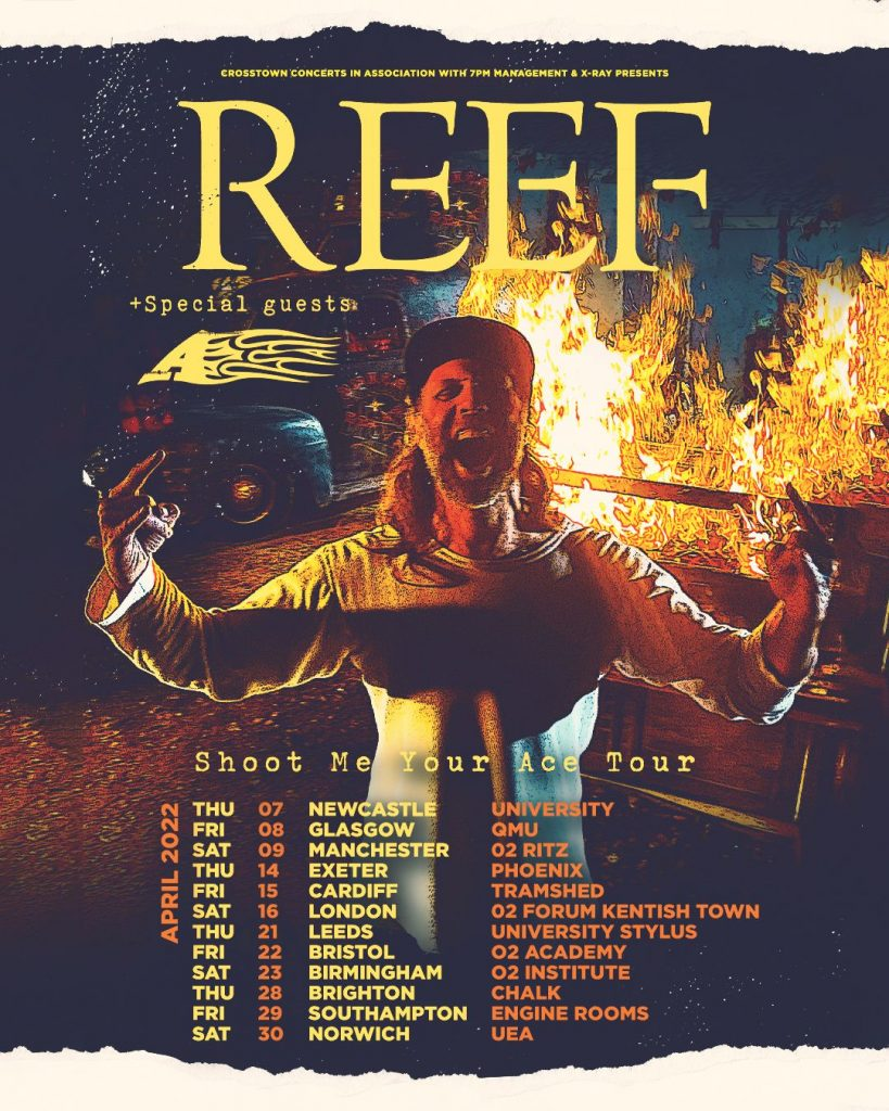 Reef announce Shoot me your ace UK tour.